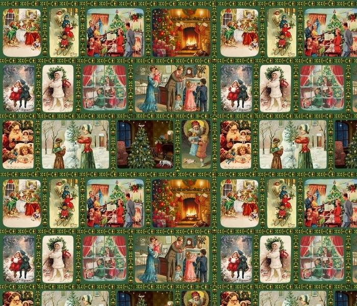1434X-M Vintage Christmas Scenes