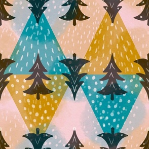 Geometric Joy in the Winter forest large