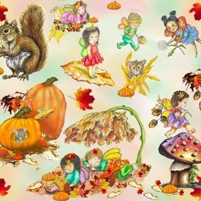 Autumn in the Fairy Garden botanical 4195x3600