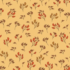 Mustard_ Chocolate and Orange tossed botanical for apparel_ home decor and home furnishings-06