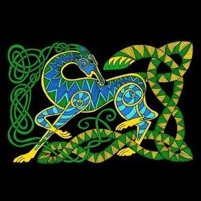 Celtc Hound 1 blue green gold black