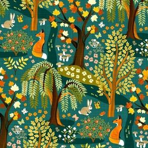 Autumn Whimsical Woodland Wonderland - Medium Scale