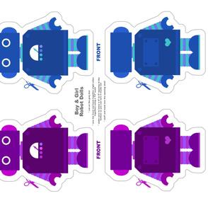 Robot Dolls - Purple and Blue