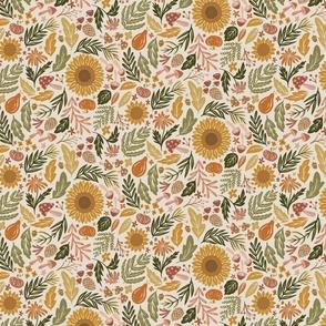 Autumn Botanicals - leaves, acorns, sunflowers, ferns, mums, pinecones, mushrooms - medium /large scale