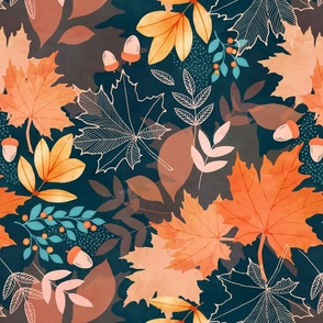 Earthy autumn leaves