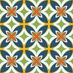 Modern Geometric Pasifika Tile in Teal_ Golden Yellow_ Blue and Burnt Orange-05-05