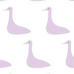 Lilac Duck on White