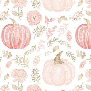 Pink and gold Pumpkins  MEDIUM