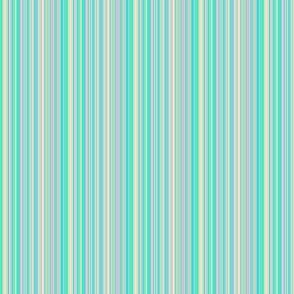 Pin stripe blue green peach