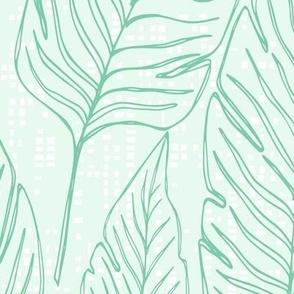 Jumbo // Banana Leaf Outline Blue