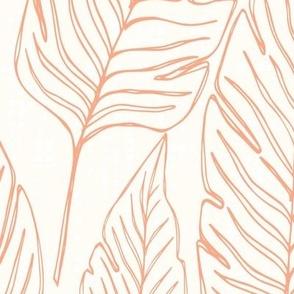 Jumbo // Banana Leaf Outline Orange