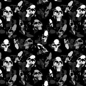 """Skulls in grey, XXL, 21"""""""