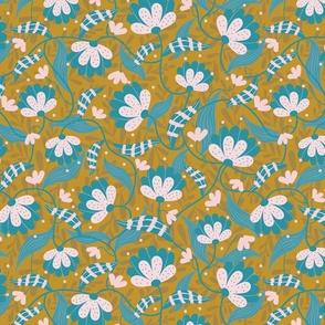 Joyful Flowers - Mustard