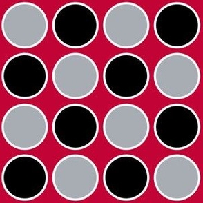 Circles Red & Black