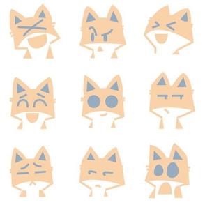 Fox Faces Emojis