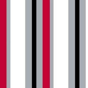 Stripes Red, Gray & Black