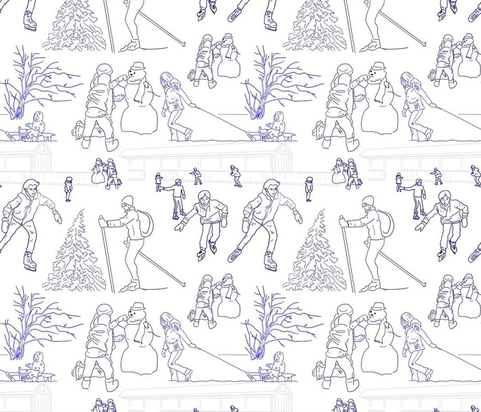 Holiday Winter Activities Toile