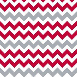 Chevron Red & Gray