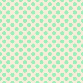 Green blue dots on peach LG