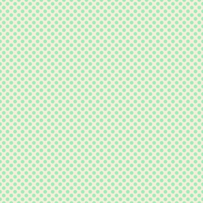 Green blue dots on peach small