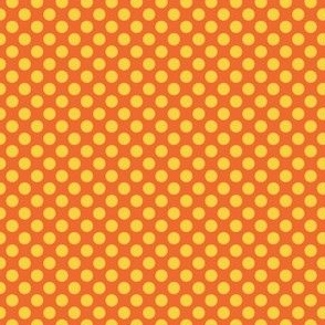 Gold dots on orange lg