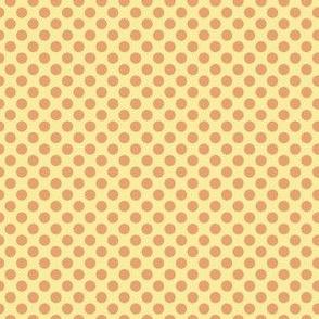 Pumpkin dots on gold