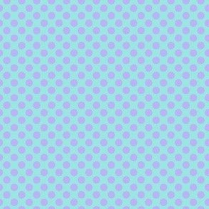 lavender on turquoise dots