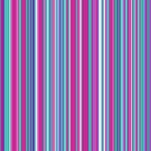 Stripe lavender fuschia turquoise