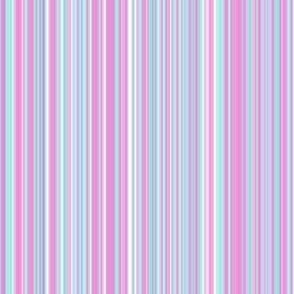 Stripe pastel lavender fuschia turq