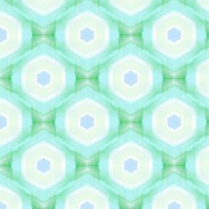 Watercolor kaleidoscope green