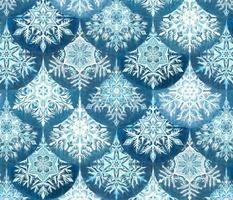 Frozen Mermaid Snowflake Scales in Denim Blue - large