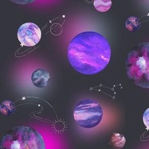 purple planets space nerd