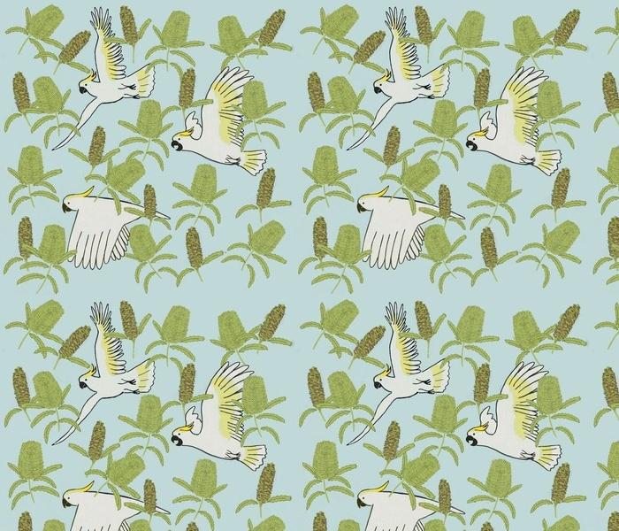 Cockatoos and Banksias