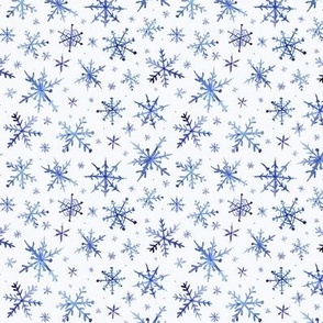 Small scale snowflakes - magic winter watercolor vibes - christmas and new years cool snow a527-7