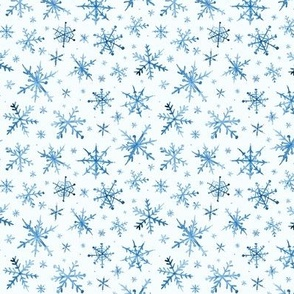 Small scale snowflakes - magic winter watercolor vibes - christmas and new years cool snow a527-8
