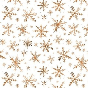 Earthy snowflakes - magic winter watercolor vibes - christmas and new years cool snow a527-10