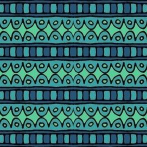 Hand-drawn Stripe - blue