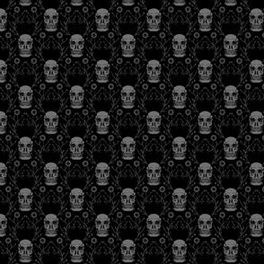 """Vintage Skulls, M, 7"""""""