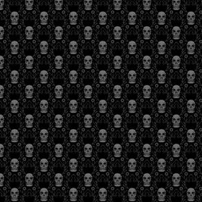 """Vintage Skulls, S, 5.25"""""""
