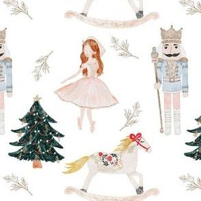 Watercolor Nutcracker Christmas Winter MEDIUM