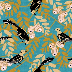 Art Deco Birds and Seed Pods
