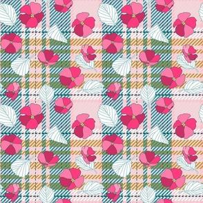 Floral Pink Lagoon Tartan (medium)