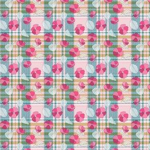 Floral Pink Lagoon Tartan (small)