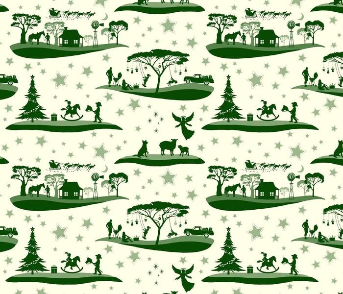 AUSTRALIAN Christmas Toile large