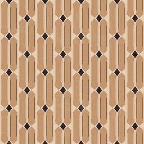 Brown and black geometrical 2-nanditasingh