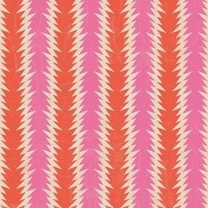 Pink and red geometrical 3-nanditasingh