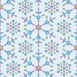 3.Faux Beaded Snowflake Christmas Decor - large scale for wallpaper, home decor, table linen