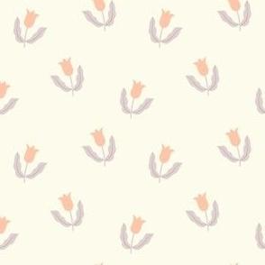 Small tulips - Cream white, peach