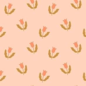 Small tulips - Peach and mustard
