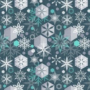 crystal snowflakes (nightfall)
